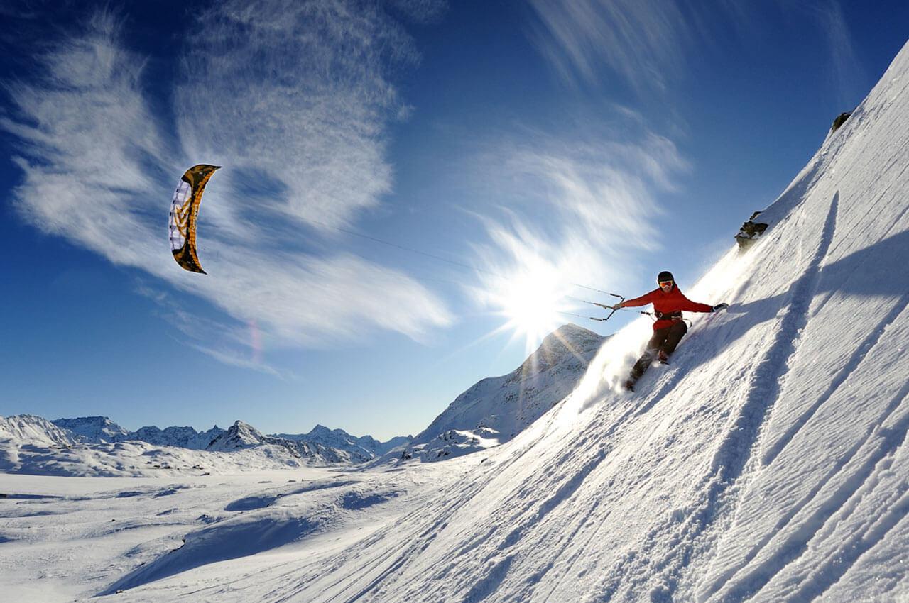 Ski kite
